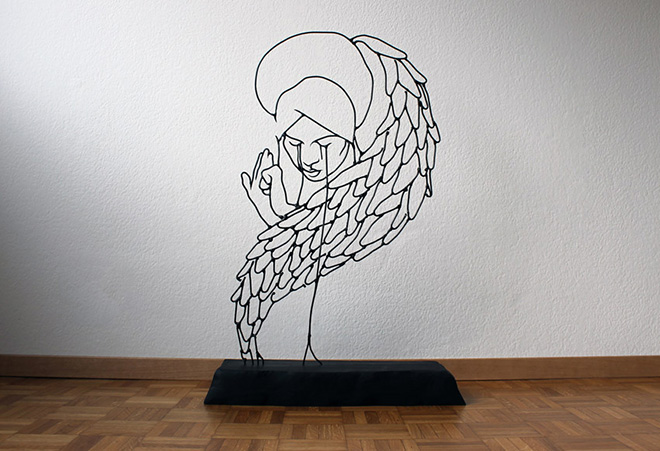 Gavin Worth – Wire sculptures (Angel series)