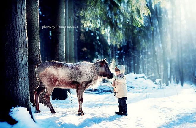 Elena Karneeva - Animali e bambini