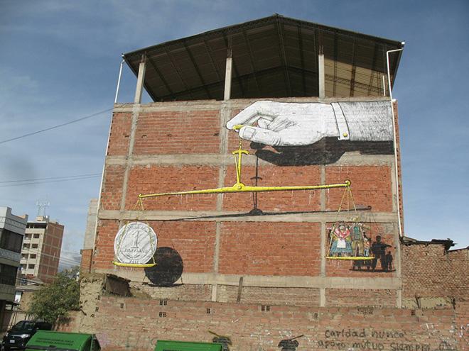Blu - Il nuovo Murales in Bolivia