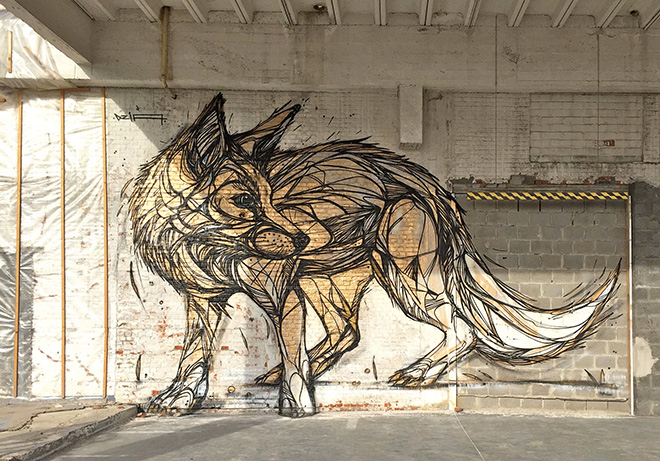 Dzia – Street art geometrica