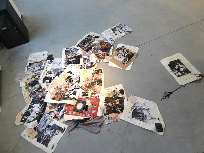 Gaia Lucrezia Zaffarano - Le ragazze della polvere, 2012, collage su carta