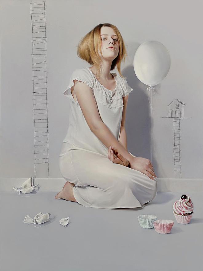 Elisa Anfuso - La terza tentazione (Di Sogni e di Carne) - Olio e pastelli su tela, cm 100x120, 2013