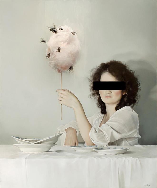 Elisa Anfuso - Moscacieca (Di Sogni e di Carne), Olio e pastelli su tela, cm 100x120, 2012