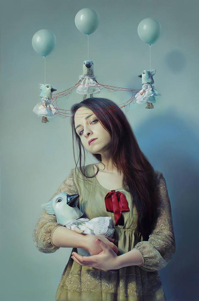 Elisa Anfuso - Like a Vergin (La caduta di Eva) - Olio su tela, cm 120x180, 2014