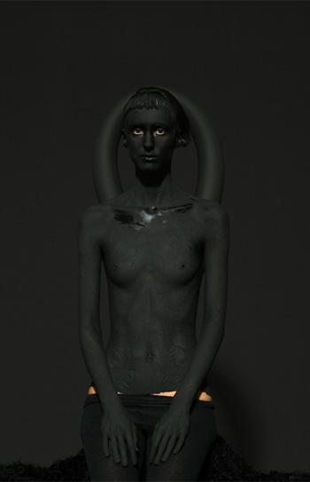 Mustafa Sabbagh, Untitled - serie: Onore al Nero (2014) - Stampa fotografica lambda su dibond, 80x80 cm - ed. di 5 + 1 PA - © Mustafa Sabbagh