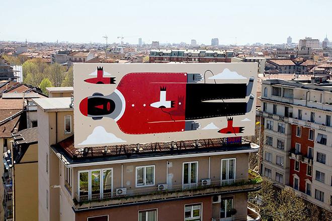 Agostino Iacurci - street art Milano