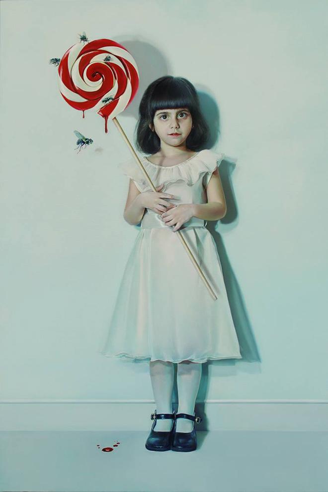 Elisa Anfuso - Pensierino sull'oggetto e le sue pulsioni (Di Sogni e di Carne) - Olio su tela, cm 100x120, 2013