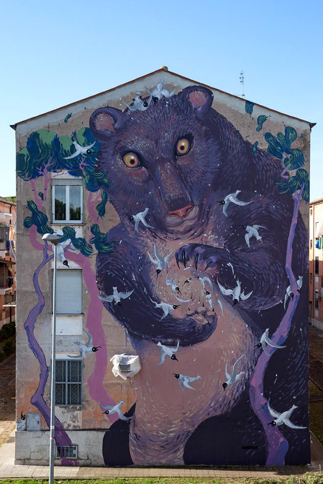 Street art| HITNES @ Sanba project Rome 2015