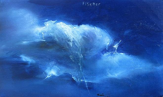 Sergej Glinkov - Heaven, 2014 - Olio su tela, cm 33x51