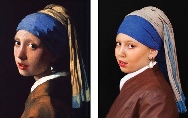 I quadri prendono vita - Sofia Salvati interpreta