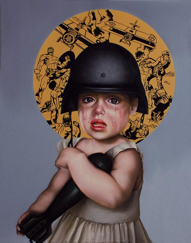 Antonio De Summa - Tutti giù per terra - Olio su tela -cm 40x50
