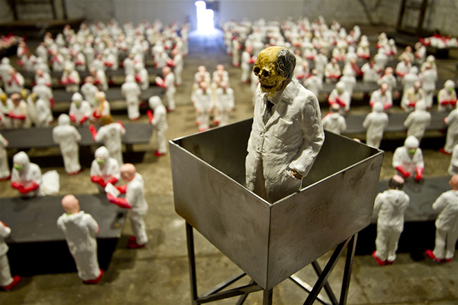 Isaac Cordal - The school