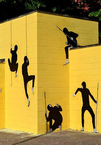 Levalet - Hunt, Bologna - Cheap, Street poster art festival