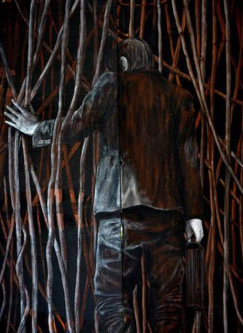 Levalet - Introspection, Fondi - Memorie Urbane street art festival