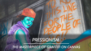 Pressionism - The Masterpiece of graffiti on canvas