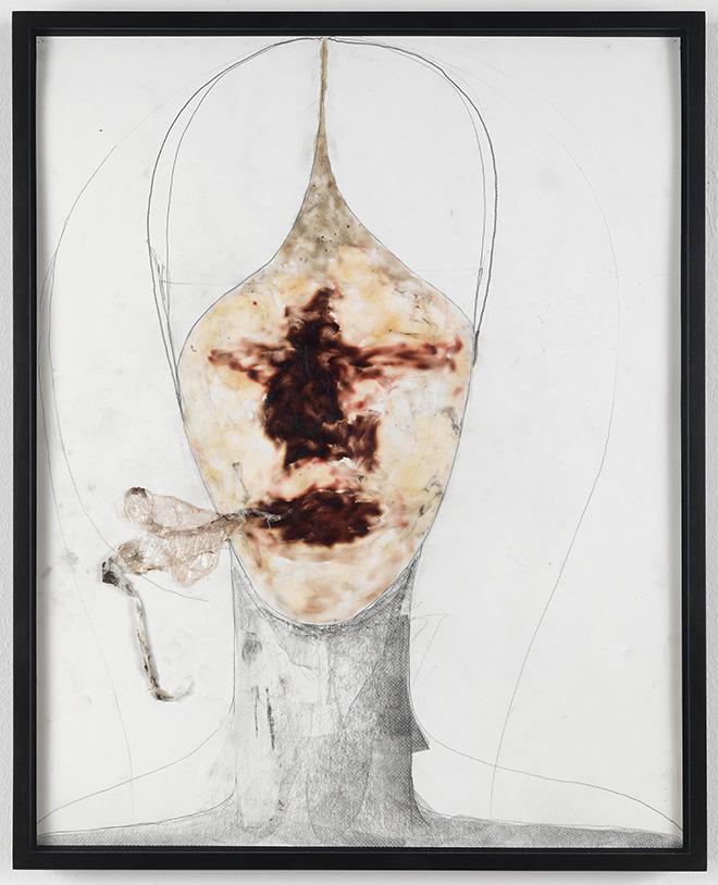 Enrico David - Untitled - 2010, matita, cera, plastica su carta / pencil, wax, plastic on paper - © Enrico David - Courtesy Michael Werner Gallery, New York and London