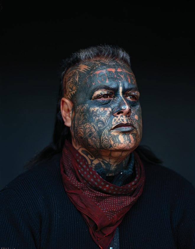 Jono Rotman - Mongrel Mob Portraits, Denimz Rogue, 2008. C-Type Photograph, 1.9M x 1.5M