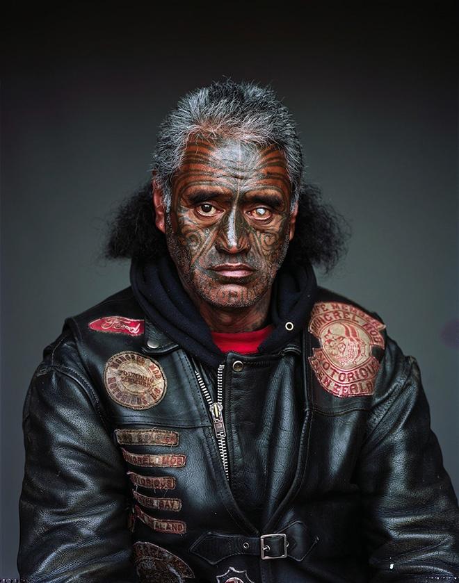 Jono Rotman - Mongrel Mob Portraits - Bung-Eye Notorious, 2008