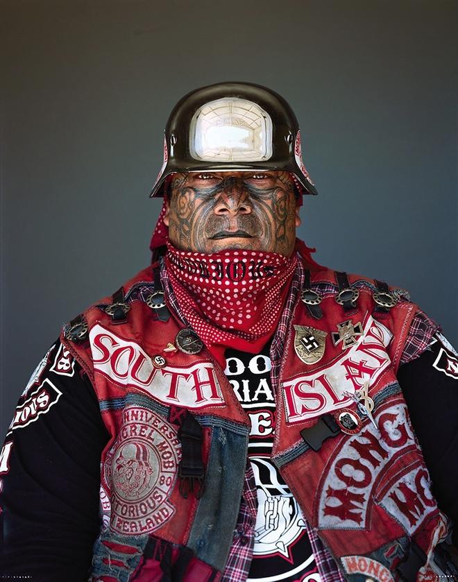 Jono Rotman - Mongrel Mob Portraits, Greco Notorious South Island, 2008 - C-Type Photograph, 1.9M x 1.5M