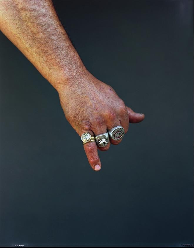 Jono Rotman - Mongrel Mob Portraits, Aaron Rogue, 2009 - C-Type Photograph, 1.5M x 1.2M