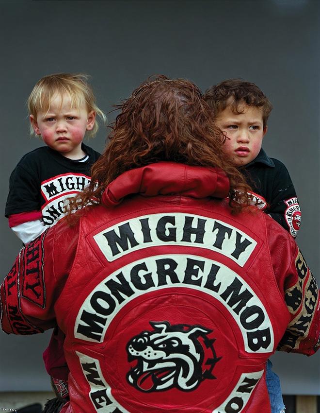 Jono Rotman - Mongrel Mob Portraits - Sean Wellington and Sons, 2009 - C-Type Photograph, 1.5M x 1.2M