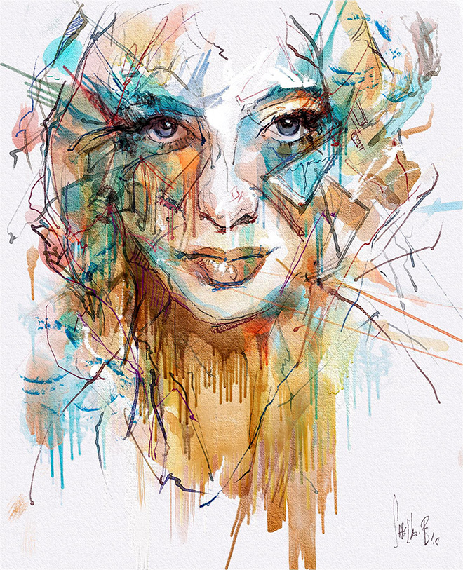 Never Bored by Tim Shelbourne - Rebelle, Watercolor & acrylic painting application