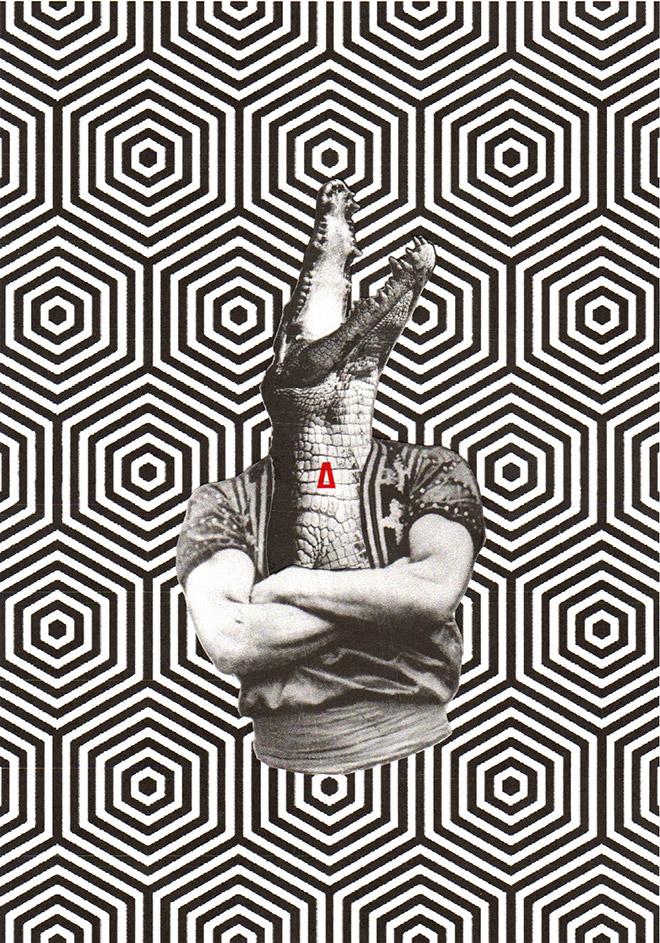 Pasquale de Sensi - Pater Nivasio, 2014 - collage su carta, 21x30 cm