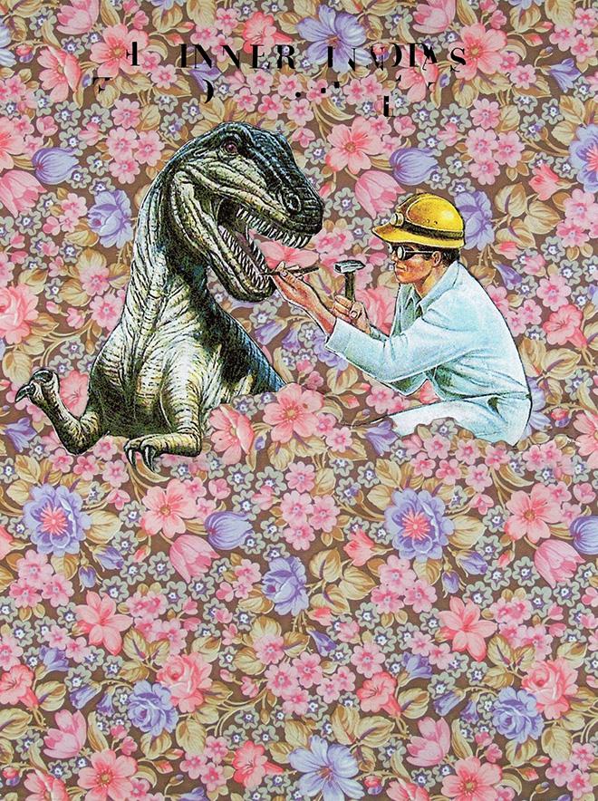Pasquale de Sensi - Violini nell'incendio, 2015 - collage su carta, 21x30 cm