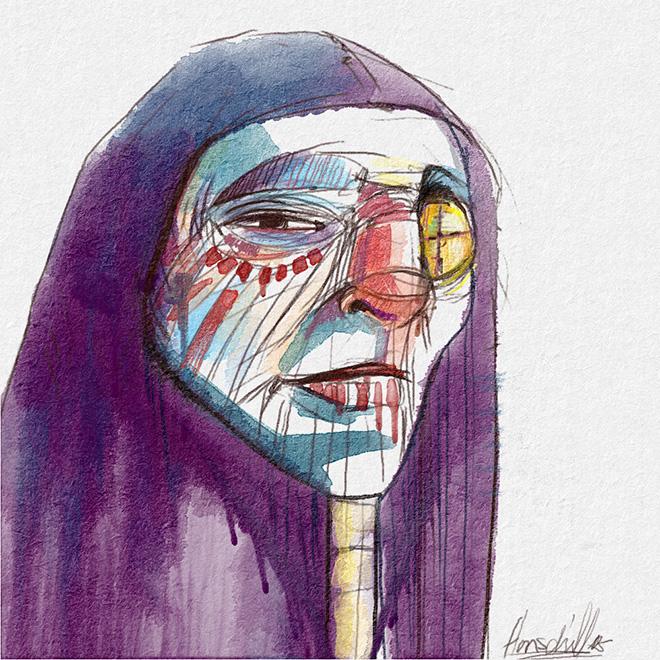Martin Hanschild - Rebelle, Watercolor & acrylic painting application