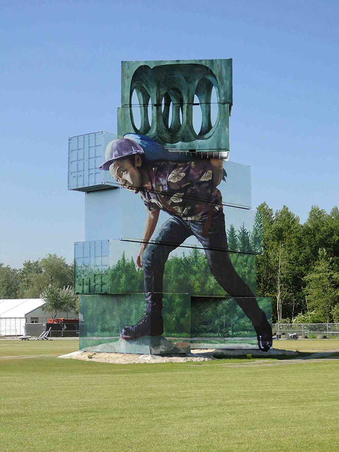North West walls - Fintan Magee, Container graffiti