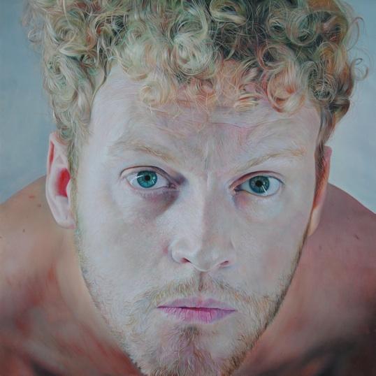 Mauro Maugliani - GABRIEL'S MESSAGE, 2012, oil o linen - cm 80 x 80