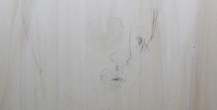 Lello Torchia, Aurum - Senza titolo, 2012 - Matita e foglia oro su legno. 40 x 40 cm