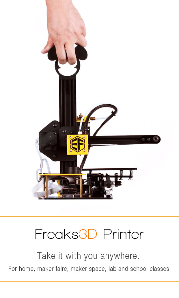 Freaks3D: the World's First Portable 3D Printer