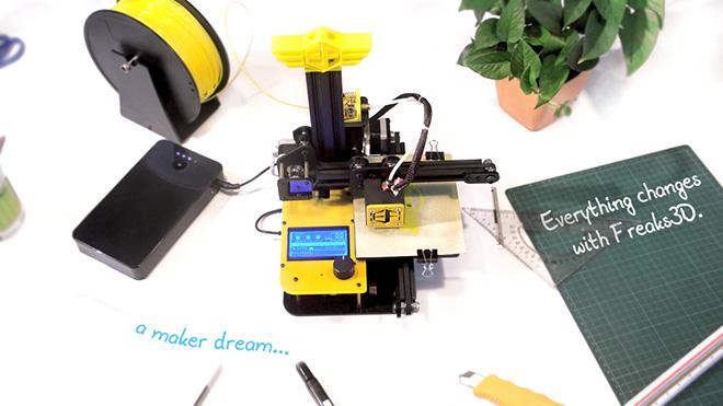 Freaks 3D – La stampante 3D portatile
