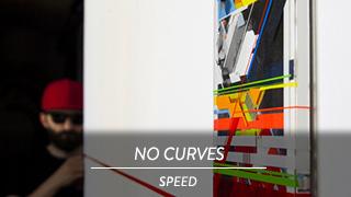 NO CURVES - Speed, mostra temporanea di Tape Art