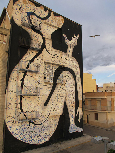 Sam3 - Street art, Amposta - Spain