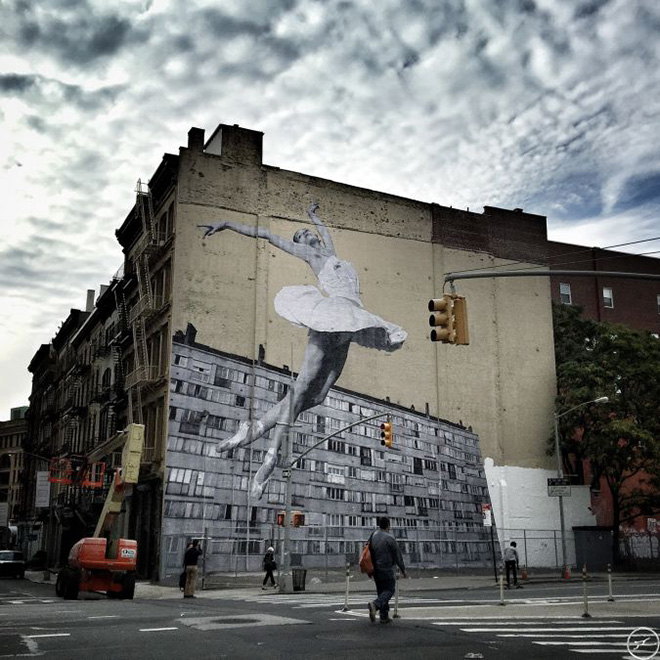 JR - Les Bosquets paste up, New York