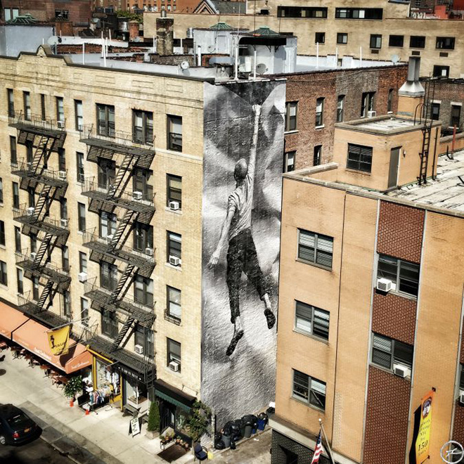 JR - New York pasting