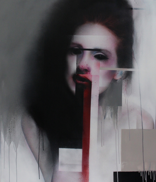Marco Rea - Faces, 2013, spray on billboards