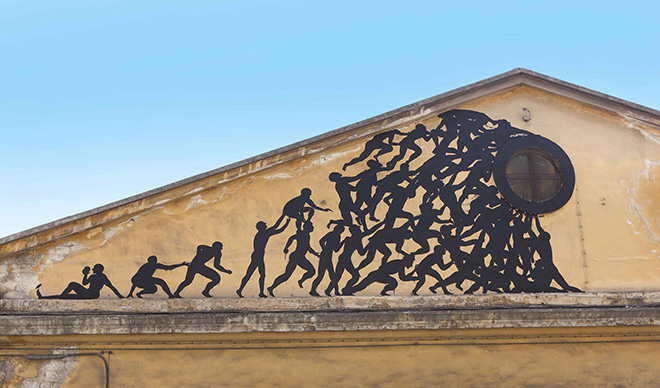 Sam3 - Street art, Murales Caserma Rossani, Bari