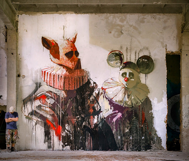 SEPE - The Golden Age Of Grotesque, Mural, 2015
