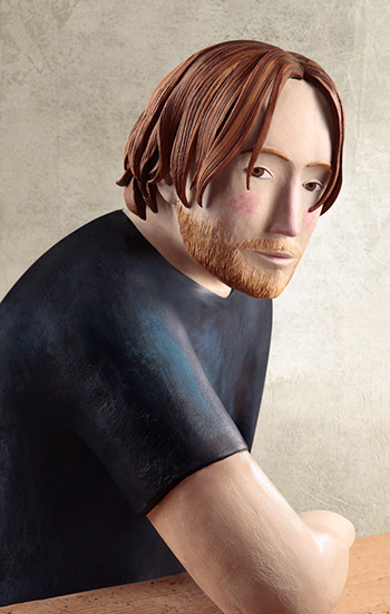 Irma Gruenholz - Red beard, Clay Illustration
