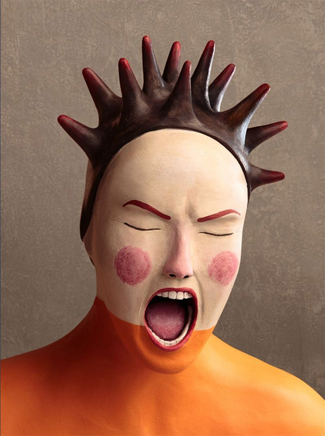 Irma Gruenholz - Anger, Clay Illustration