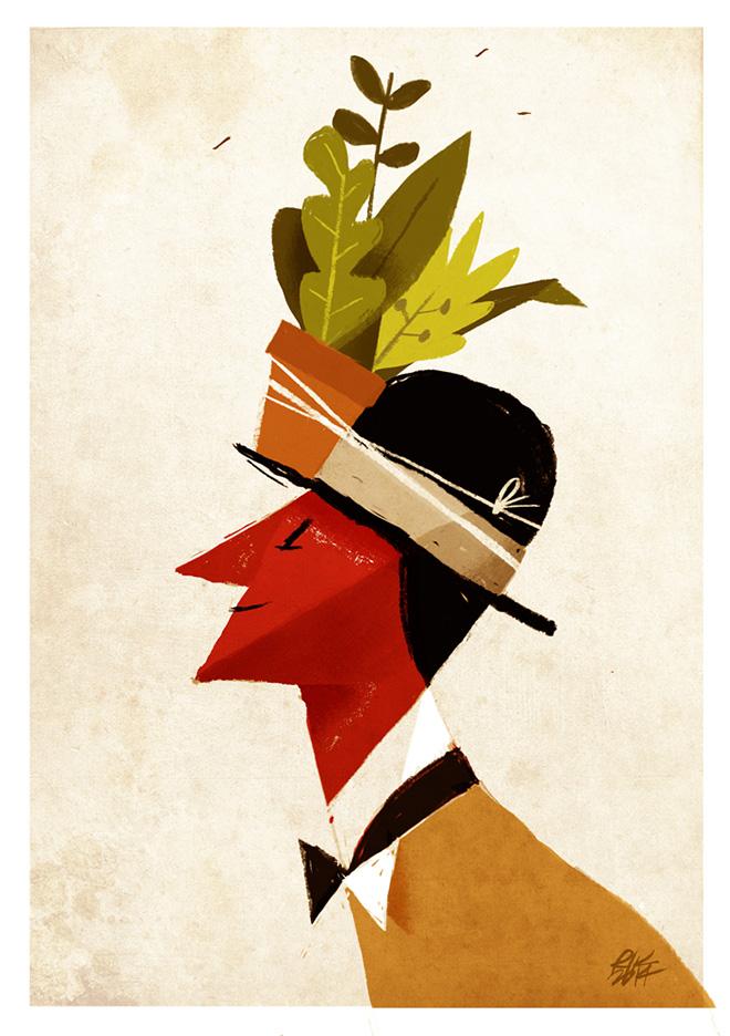 """Riccardo Guasco - """"Il mio bosco verticale"""" - Digital illustration, 2014"""