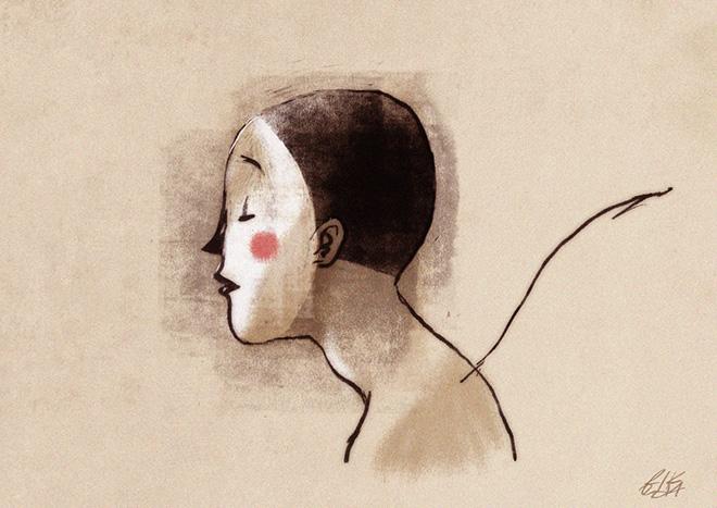 "Riccardo Guasco - ""The mask"", Digital sketch, 2014"
