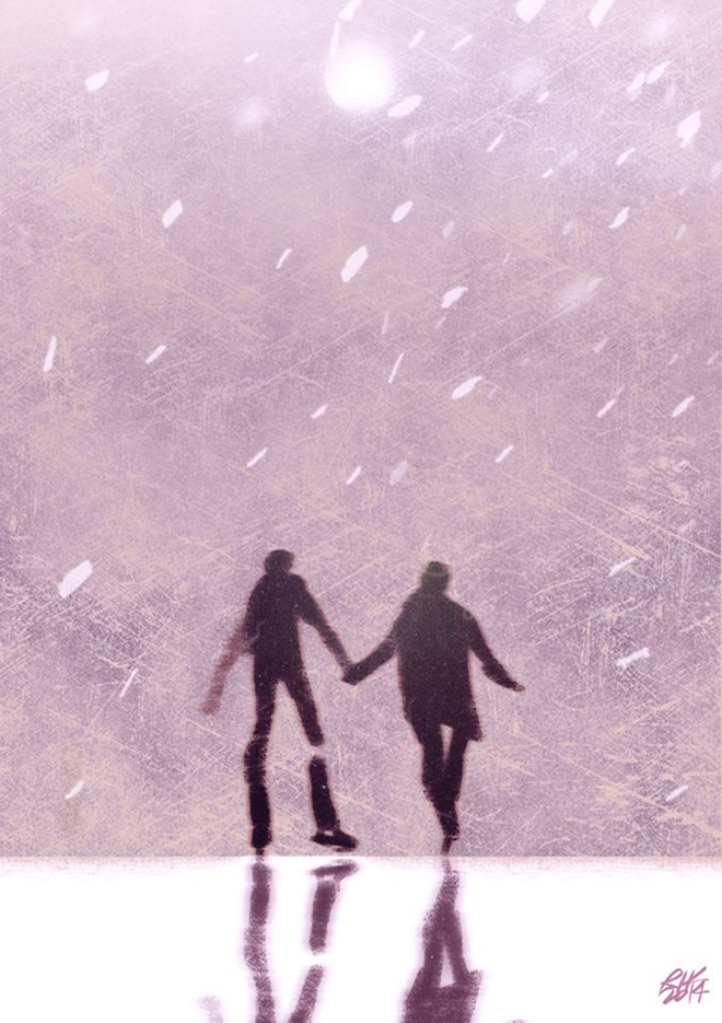 Riccardo Guasco - Uncertain experiment of two ice skaters, 2014