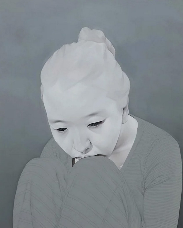 Sungsoo kim melancholy portraits for Minimal art artisti