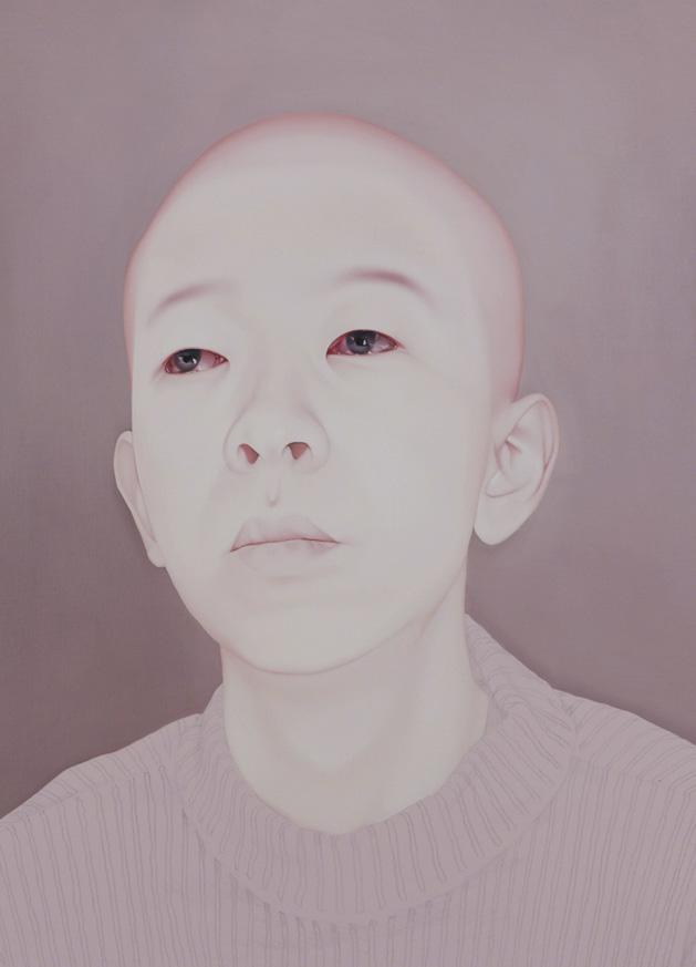 Sungsoo Kim - Melancholy, 2010-2011 Oil, acrylic on canvas - 90.9 × 65.5 cm