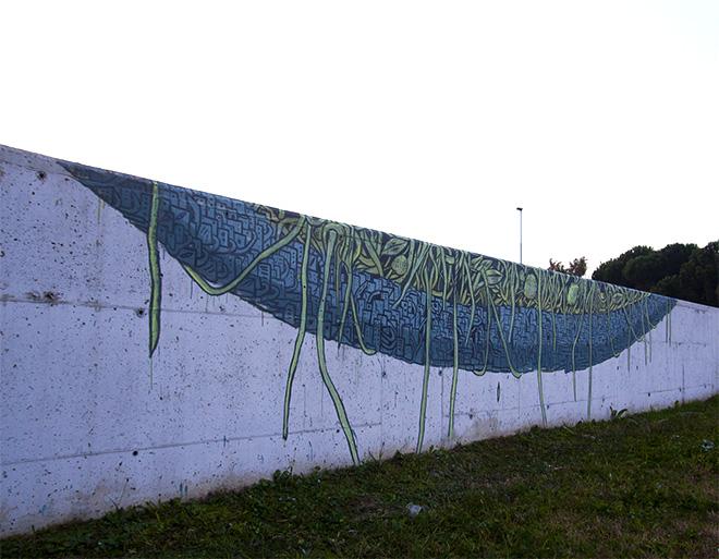 """""""AGGLOMERATI"""" - Crisa murales, Grauen gallery"""