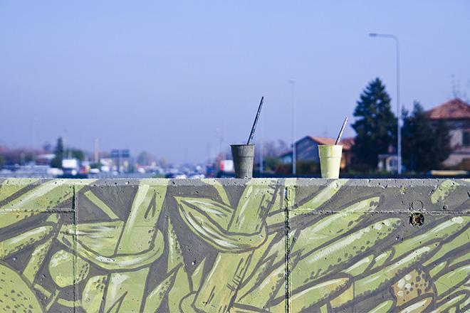 """""""AGGLOMERATI"""" - Crisa murales (detail), Grauen gallery"""